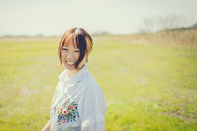 米田小波の満面の笑み